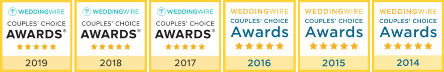 Wedding Wire Couples Choice Awards 2014 2015 2016 2017 2018 2019 Castle Unicorn